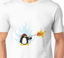 Flamethrower Penguin Unisex T-Shirt