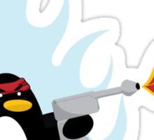 Flamethrower Penguin Sticker