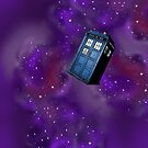 Doctor Who Tardis in the universe in the back of your phone by Inzaie