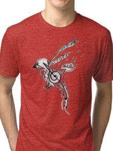 Musical bird  Tri-blend T-Shirt