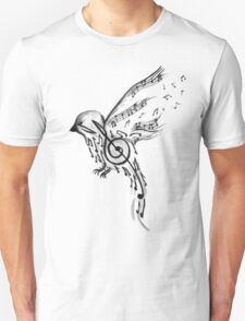Musical bird  T-Shirt