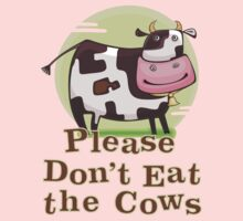 Please Don't Eat the Cows One Piece - Short Sleeve