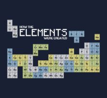 How The Elements Were Made - Periodic Table T-Shirt