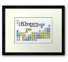 How The Elements Were Made - Periodic Table Framed Print
