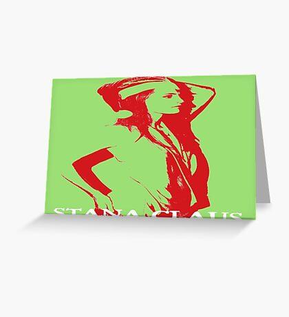 Stana Claus Monochrome Greeting Card