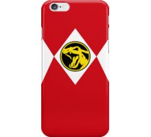 Red Poké Ranger iPhone Case/Skin