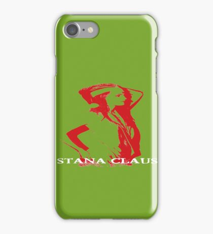 Stana Claus Monochrome iPhone Case/Skin