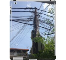 crossed wires iPad Case/Skin
