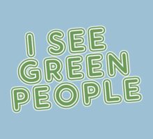 I See Green People St Patricks Day Baby Tee