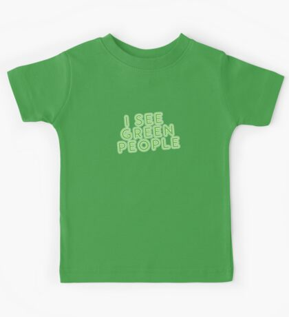 I See Green People St Patricks Day Kids Tee