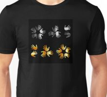 hands in gold and silver  Unisex T-Shirt