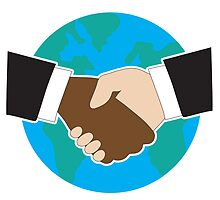World Hand Shake by Maria Bell