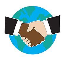 World Hand Shake Photographic Print