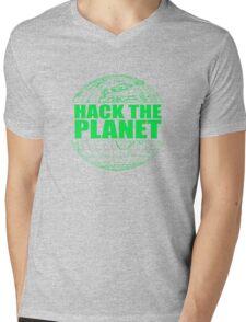 Hack The Planet Mens V-Neck T-Shirt