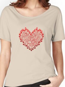 Heart Circles Valentines Day Women's Relaxed Fit T-Shirt