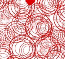Heart Circles Valentines Day Sticker