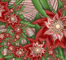Red Orbit Trap Flowers by wolfepaw