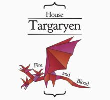 House Targaryen - Stained Glass Kids Clothes