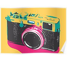 Fuji X100 yellow fun Poster