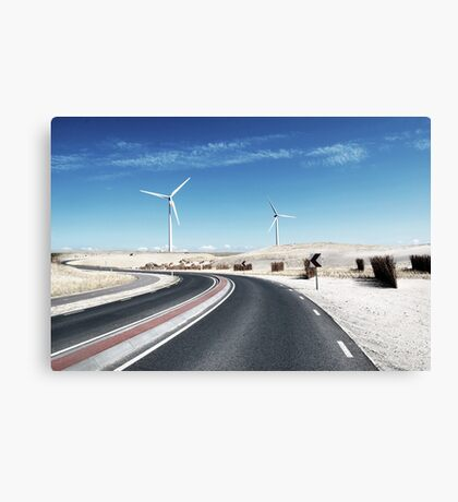 Desert Road View Canvas Print