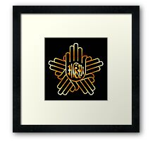 Symbol of Jainism in gold  Framed Print