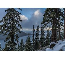 A Winter View - Emerald Bay Road Photographic Print