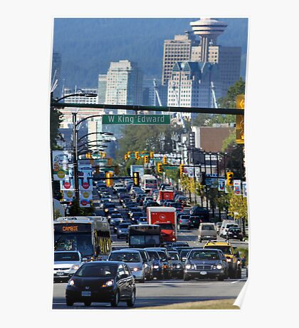 Rush Hour on Cambie Street Poster