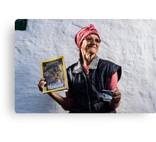 Old Lady from Hagieni. Canvas Print
