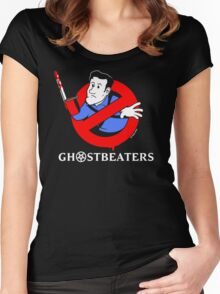 "The ""Real"" Ghost Beaters Women's Fitted Scoop T-Shirt"