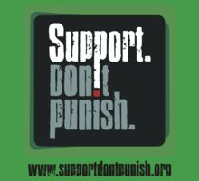 Support Don't Punish (large logo) Kids Clothes