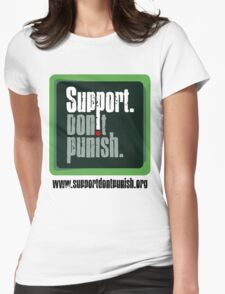 Support Don't Punish (large logo) Womens Fitted T-Shirt