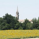 Sunflowers and Churches by concensio