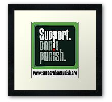 Support Don't Punish (large logo) Framed Print