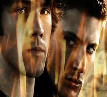 Supernatural in Flames by GiraffesAreCool