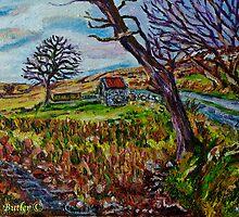 At Dusk in the Clady Townland, near Innispollen Mountain, Glendun, County Antrim. by Laura Butler
