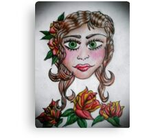 Gypsy Tattoo _ Roses Canvas Print