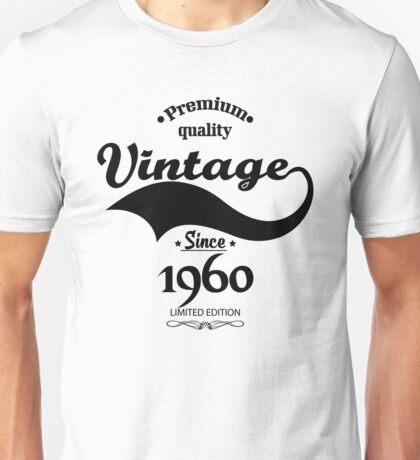 Premium Quality Vintage Since 1960 Limited Edition Unisex T-Shirt