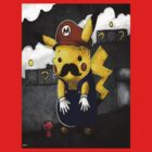 Pokemon Pikachu Dressed As Mario by cupcakewaffles