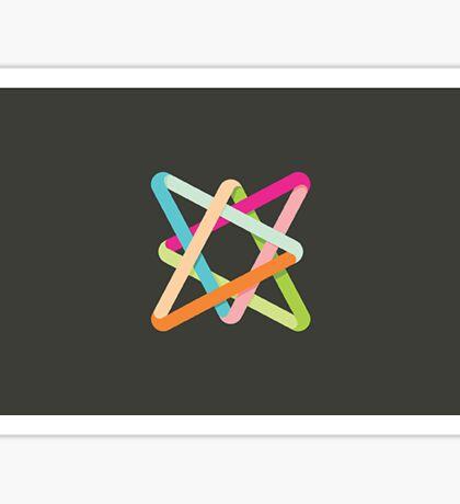Intertwined Wire Sticker
