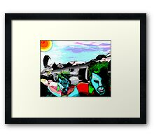 Vulture and the Superhero Framed Print