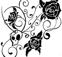 Skull and Roses  by LaceyRose