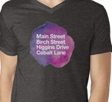 Main Street Birch Street Mens V-Neck T-Shirt
