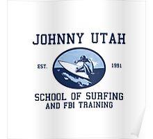 Point Break Movie Johnny Utah FBI  Poster