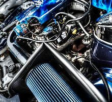 HDR - Mustang Engine Detail by Doug Greenwald