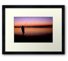 Fishing on Fraser Island Framed Print