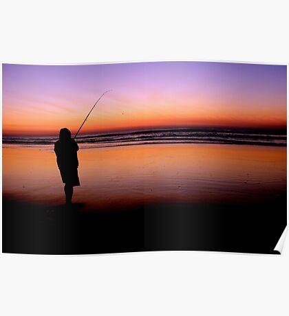Fishing on Fraser Island Poster