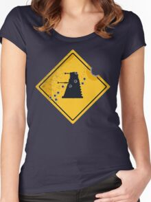Dalek Crossing Women's Fitted Scoop T-Shirt