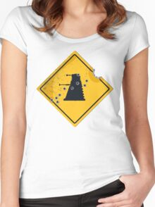 Dalek Crossing Women's Fitted Scoop T-Shirt