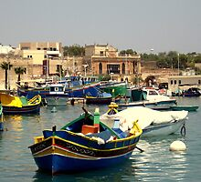 Maltese Fishing Harbour by Stan Owen