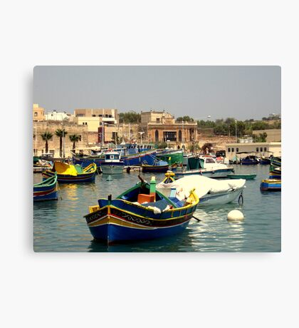 Maltese Fishing Harbour Canvas Print